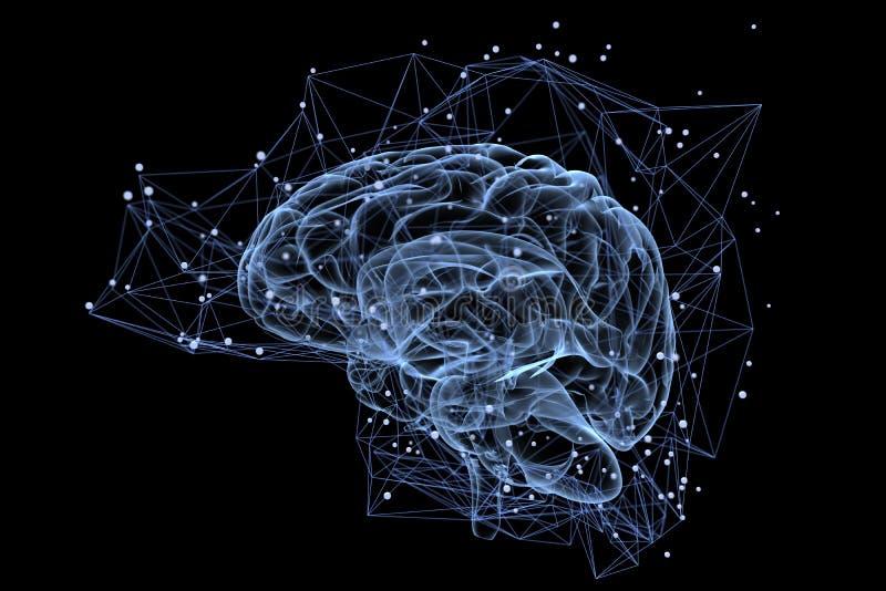 Actividad cerebral ilustración del vector