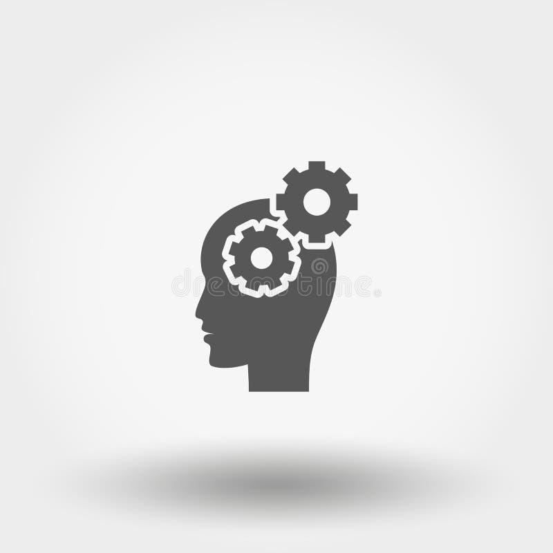 Actividad cerebral icono plano libre illustration