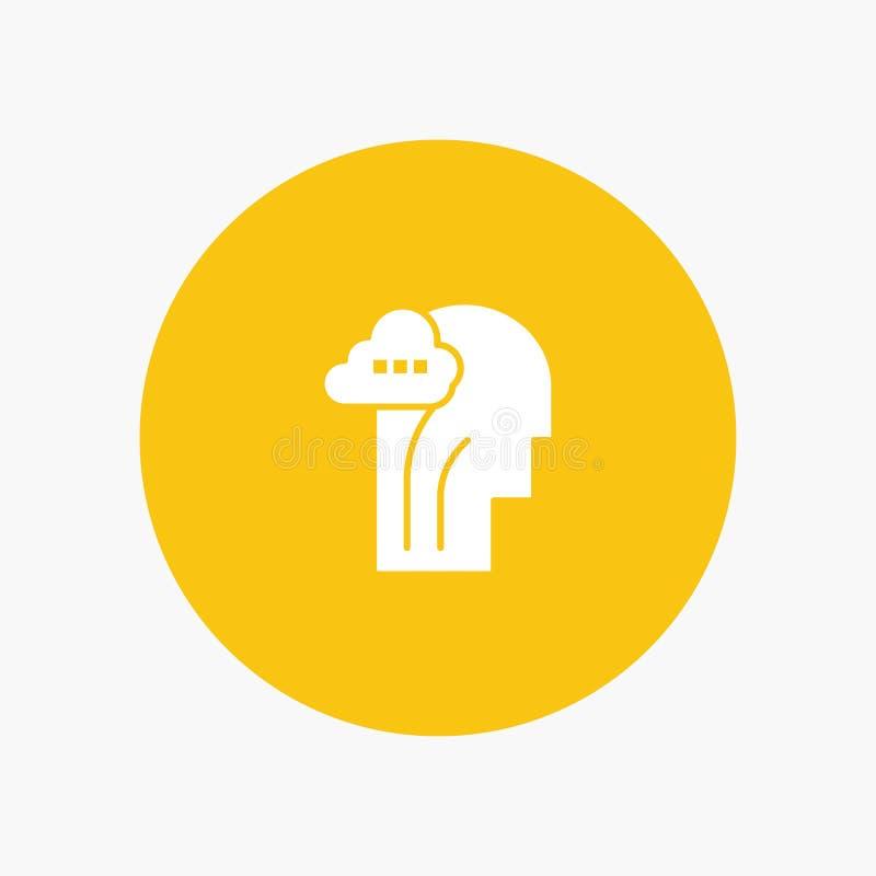 Actividad, cerebro, mente, cabeza stock de ilustración