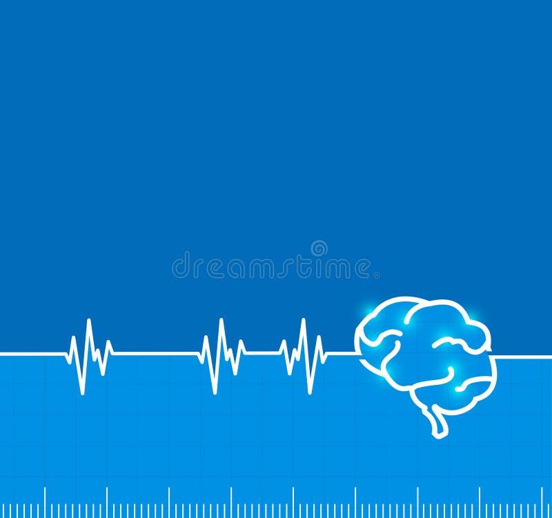 Actividad de impulso electromágnetica del cerebro libre illustration