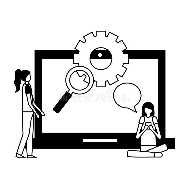 Actividad de la gente de la comunidad libre illustration