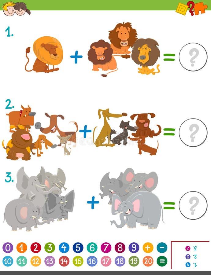 Actividad de la matemáticas de la adición para los niños libre illustration
