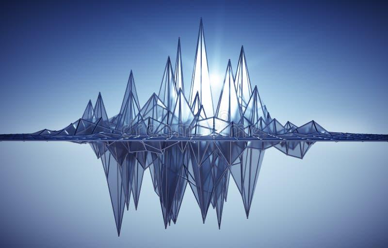 Actividad de la red con los picos en el sol stock de ilustración