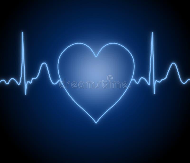 Actividad del corazón humano stock de ilustración