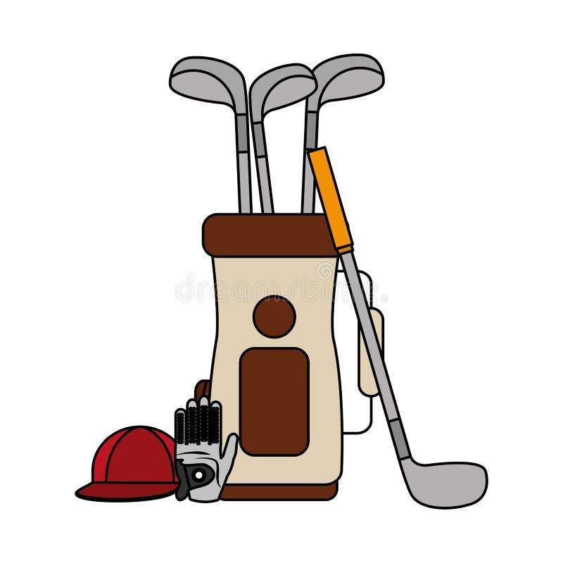 Actividad del golf del deporte libre illustration