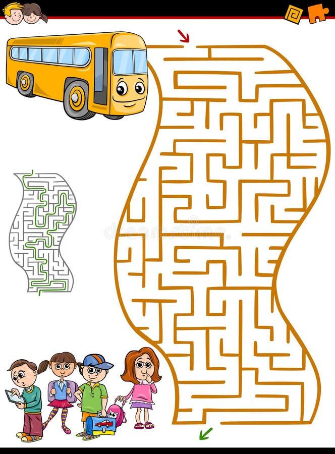 Actividad del laberinto o del laberinto para los niños ilustración del vector