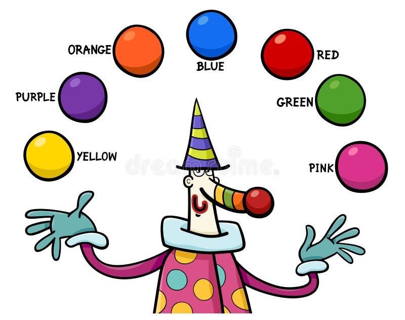 Actividad Educativa De Los Colores Primarios Ilustración del Vector ...