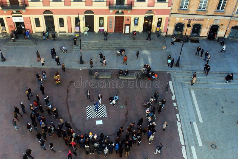 Actividad en Varsovia imagenes de archivo