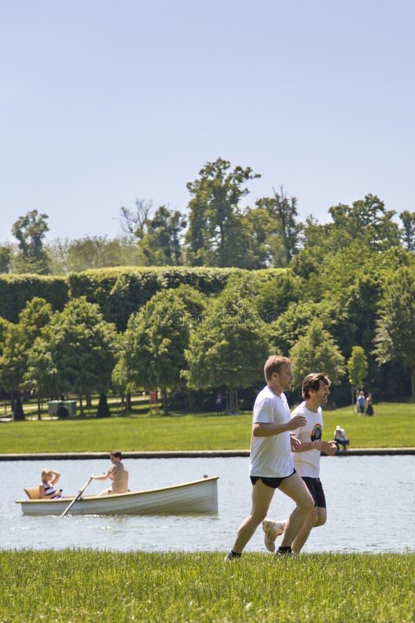 Actividades al aire libre en el parque foto de archivo