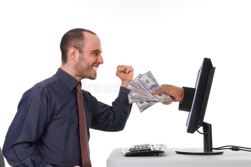 Actividades bancarias del Internet foto de archivo libre de regalías