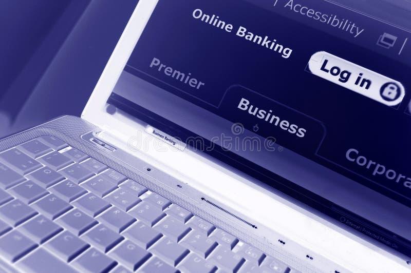 Actividades bancarias en línea foto de archivo