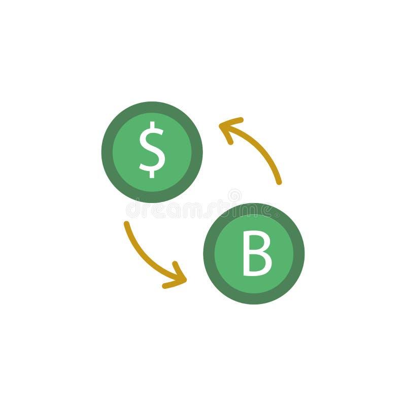 Actividades bancarias, icono del cambio Elemento del icono del dinero y de las actividades bancarias de la web para los apps móvi ilustración del vector