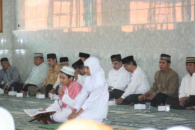 Actividades de educación en mezquita, fotografía de archivo