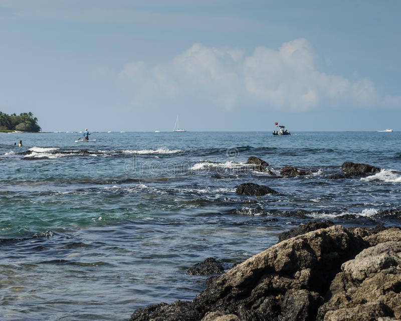 Actividades de la costa de Hawaii foto de archivo