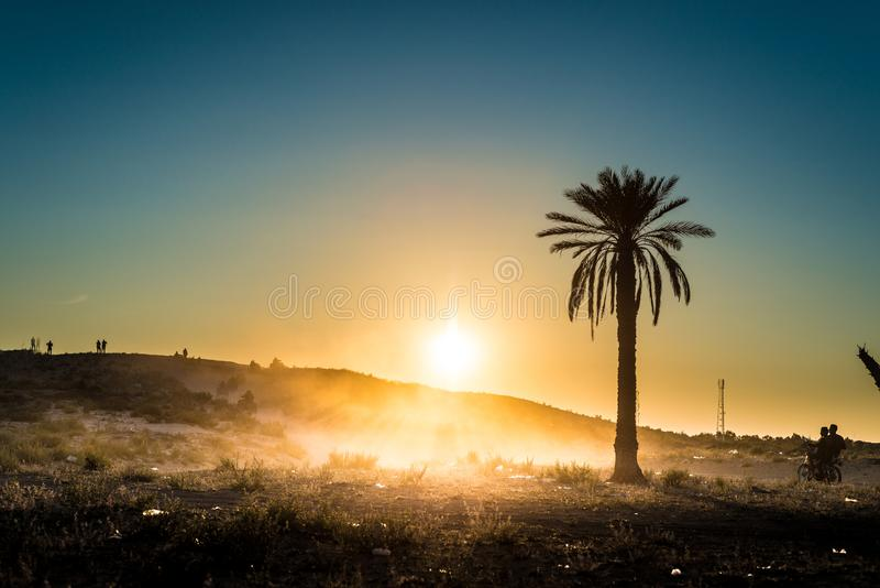 Actividades del desierto en Túnez fotografía de archivo libre de regalías