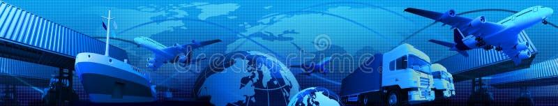 Actividades empresariais do transporte ilustração royalty free