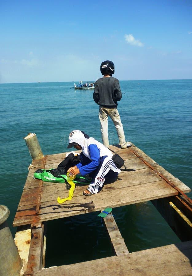 Actividades pesqueras imagen de archivo
