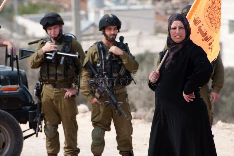 Activismo não-violento palestino fotos de stock