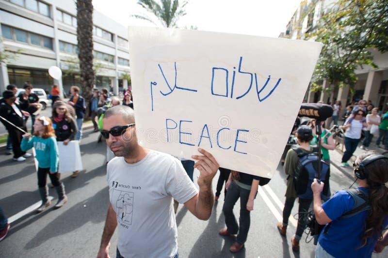 Activista da paz fotografia de stock