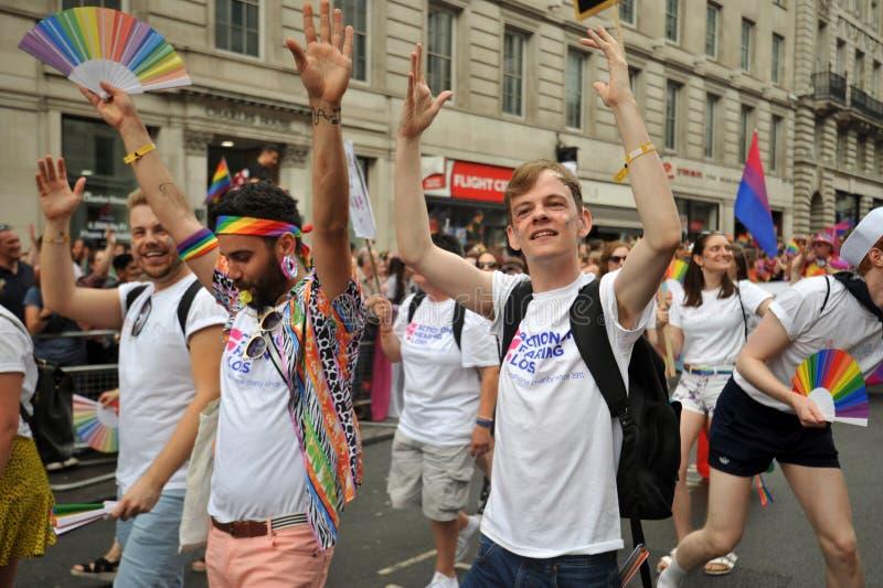 Activista sordo en el desfile de orgullo en Londres, Inglaterra 2019 fotos de archivo libres de regalías