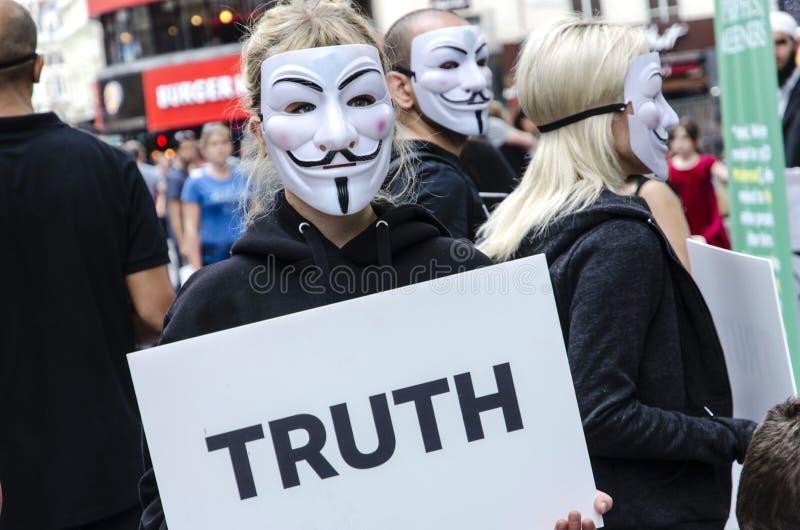 Activistes de Vegan images libres de droits