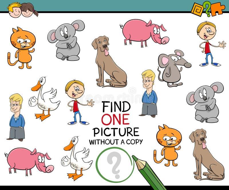 Activité éducative pour des enfants illustration stock