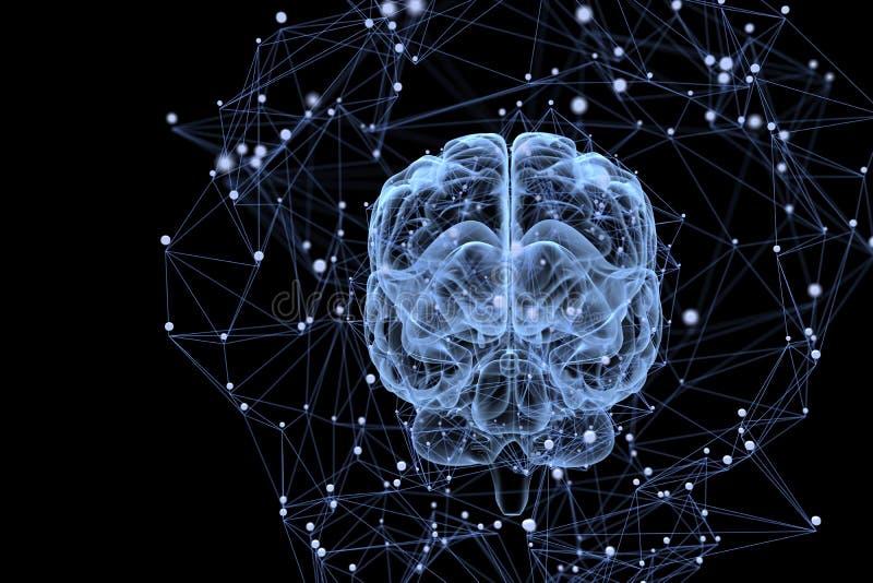 Activité cérébrale illustration libre de droits