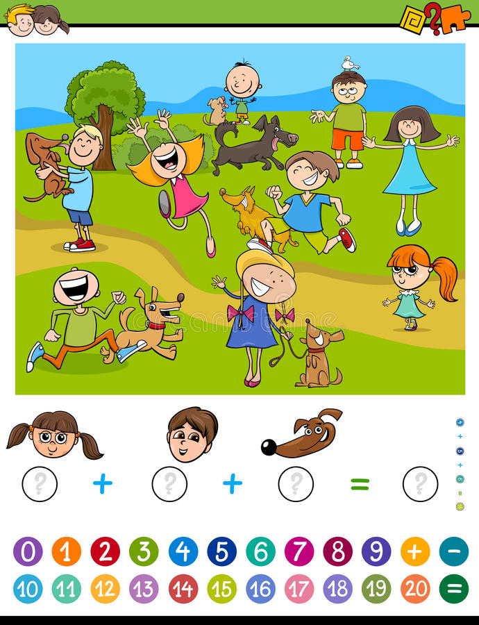 Activité calculatrice mathématique illustration libre de droits