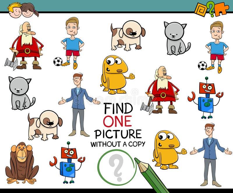Activité d'image de découverte pour des enfants illustration de vecteur