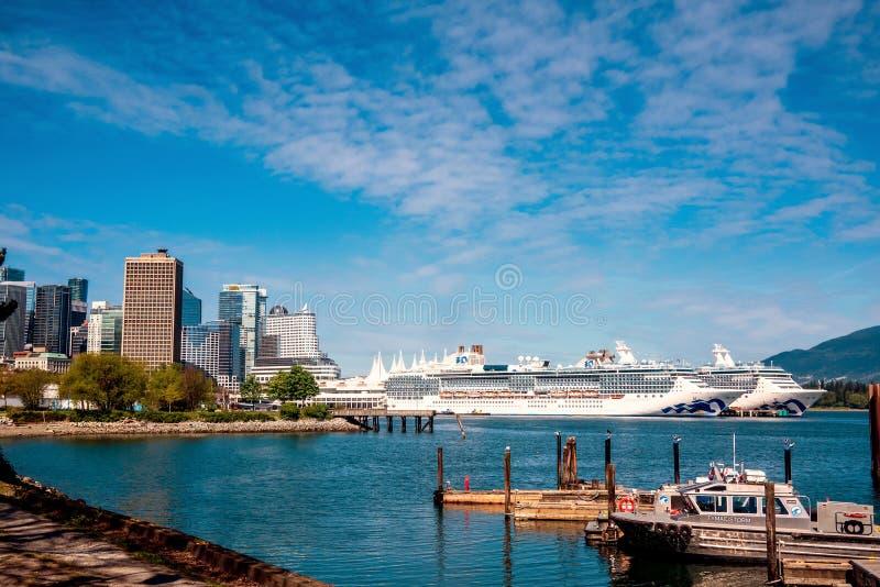 Activité de port, port de Vancouver image libre de droits