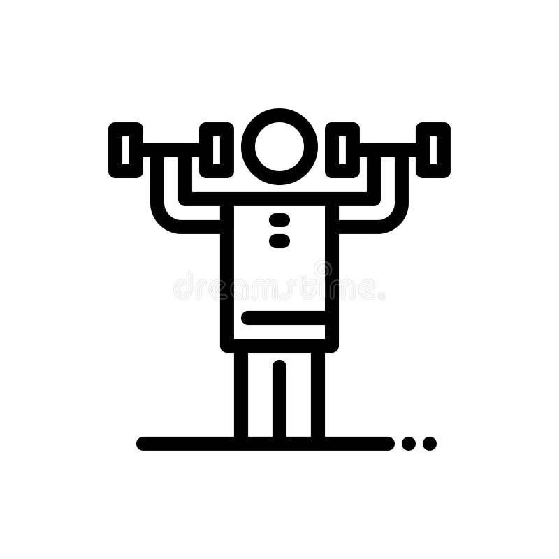 Activité, discipline, bleu humain, physique, de force et téléchargement rouge et acheter maintenant le calibre de carte de gadget illustration stock
