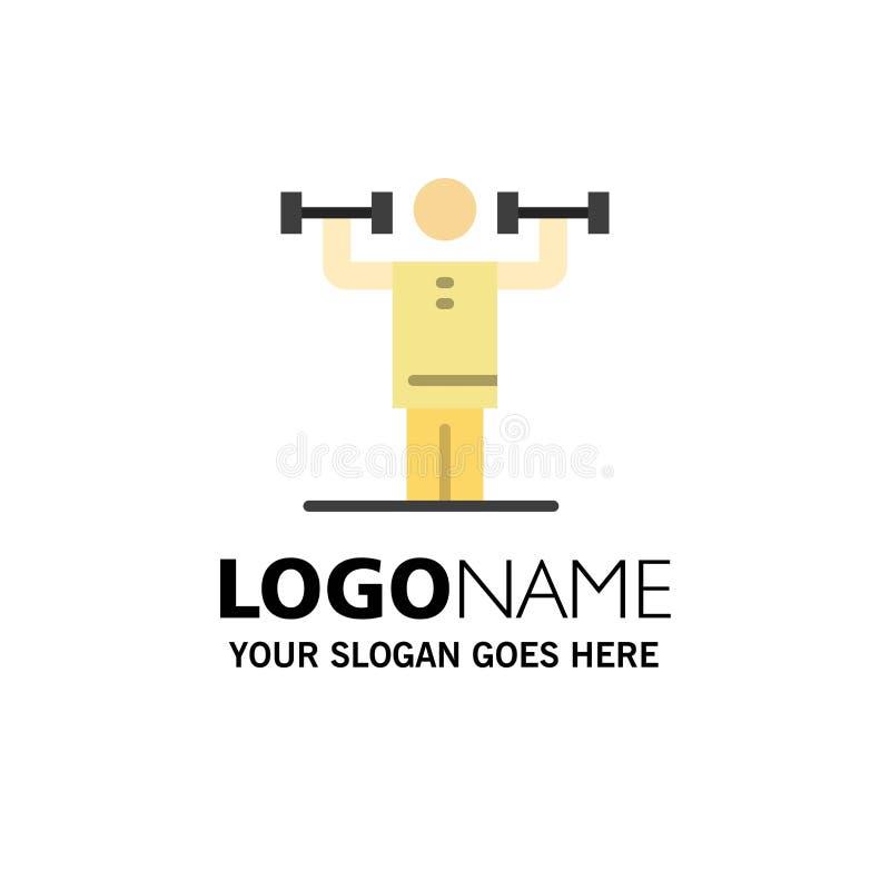Activité, discipline, humain, physique, affaires Logo Template de force couleur plate illustration de vecteur