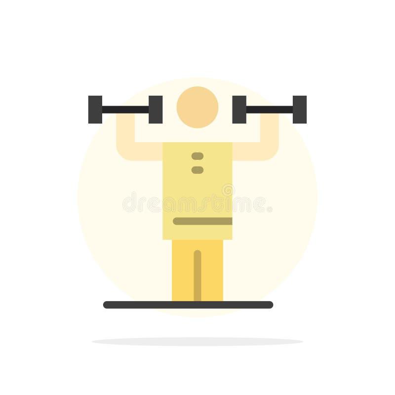 Activité, discipline, humain, physique, icône plate de couleur de fond abstrait de cercle de force illustration libre de droits