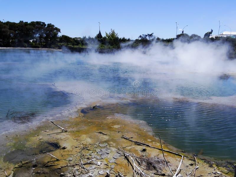Activité géothermique dans Rotorua, Nouvelle-Zélande image stock