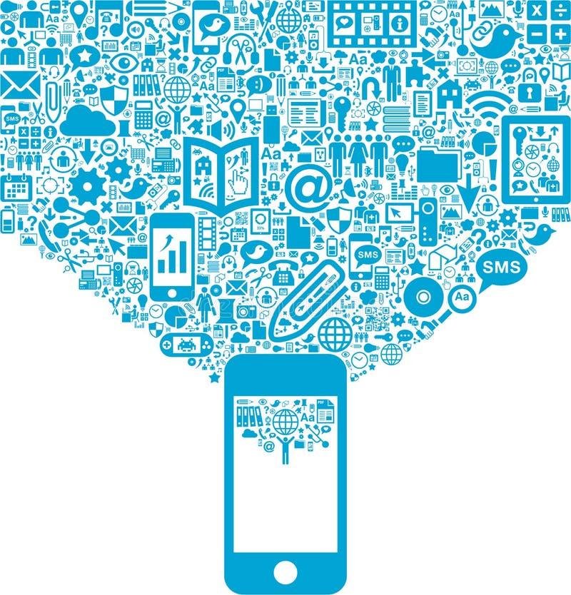 Activité mobile illustration stock