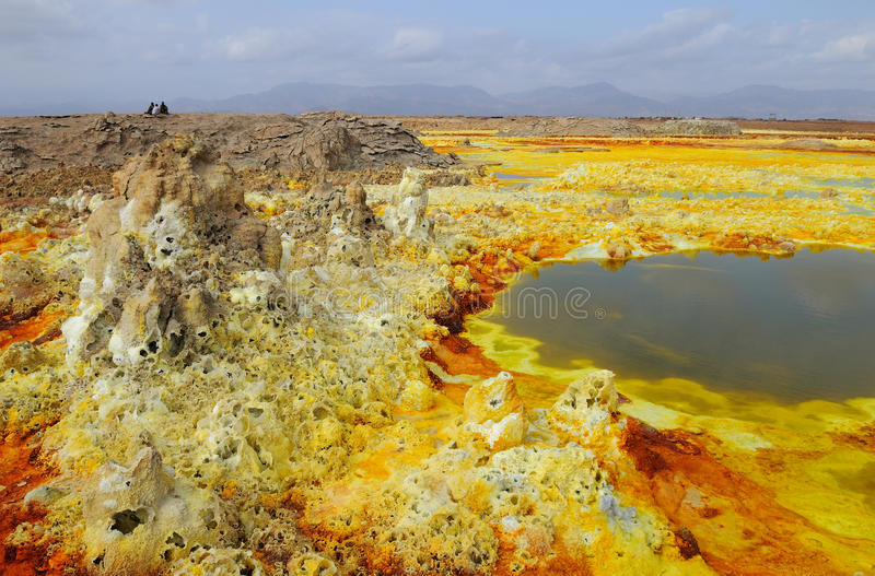 Activité volcanique de Dalol photographie stock libre de droits