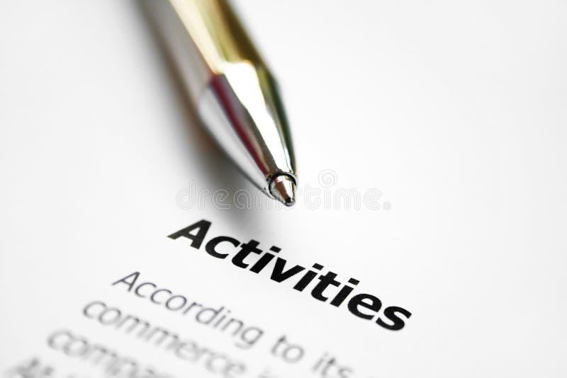 Activités images stock