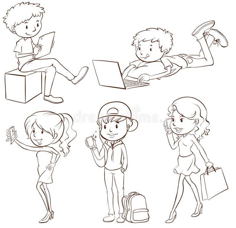 Download Activités illustration de vecteur. Illustration du adolescents - 45366174