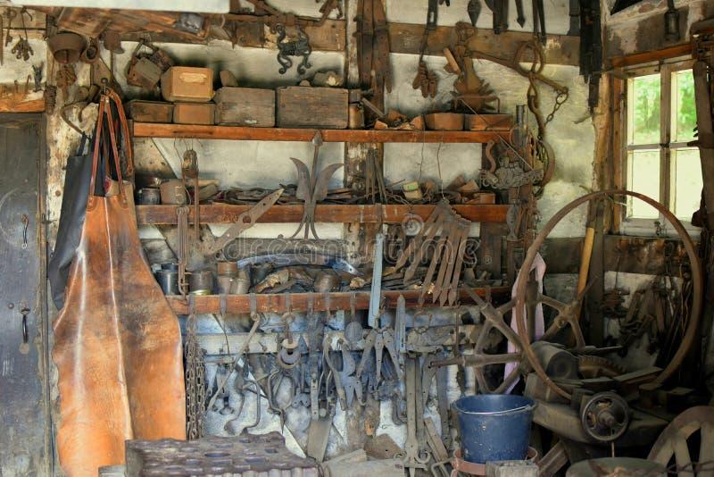 Activités antiques de forge dans le village supérieur Detmold l'allemagne photographie stock libre de droits