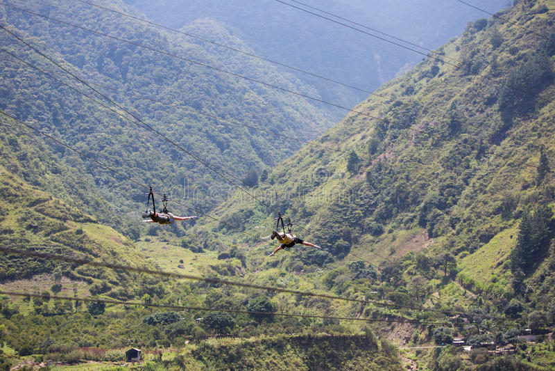 Activités d'auvent dans Banos, Equateur image libre de droits