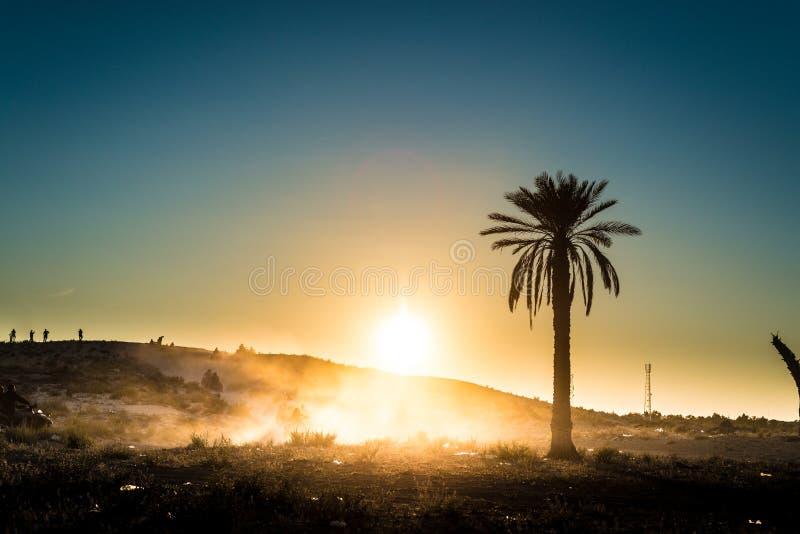 Activités de désert en Tunisie image stock