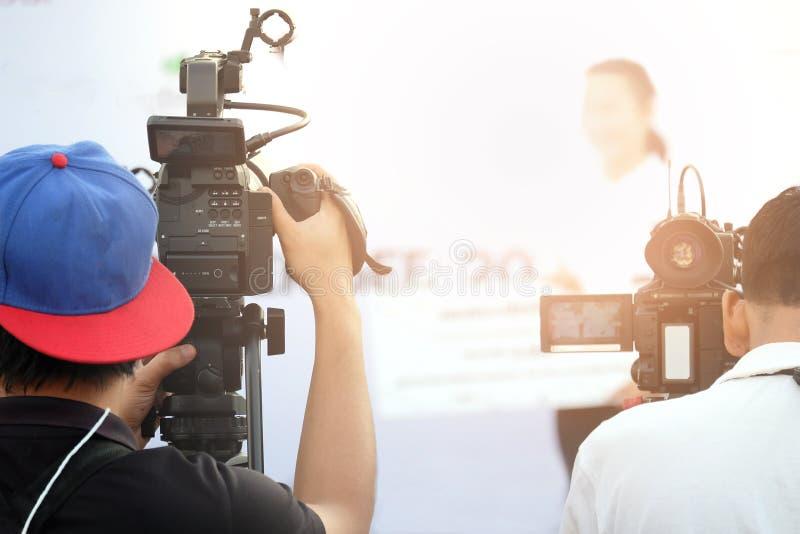 Activiteit van de fotograaf de videoopname stock foto's