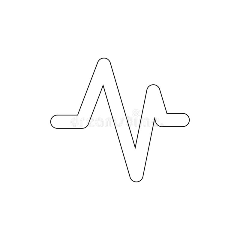 Activity beat fitness health heart pulse outline icon. Signs and symbols can be used for web, logo, mobile app, UI, UX. On white background stock illustration