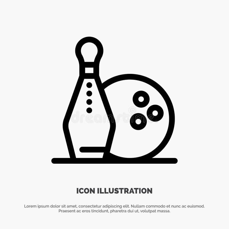 Activity, Bowling, Bowls, Keg ling Line Icon Vector royalty free illustration