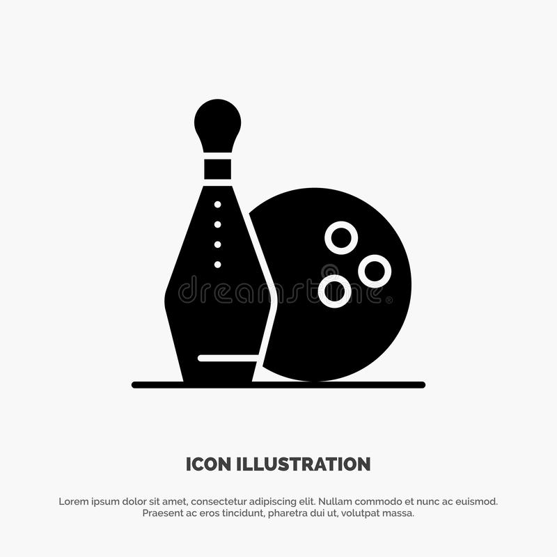 Activity, Bowling, Bowls, Keg ling solid Glyph Icon vector vector illustration