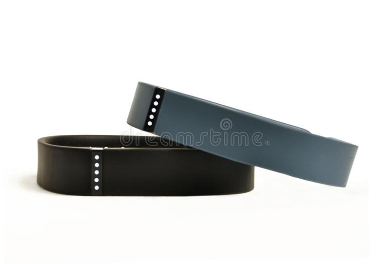 Activity fitness trackers royalty free stock photography