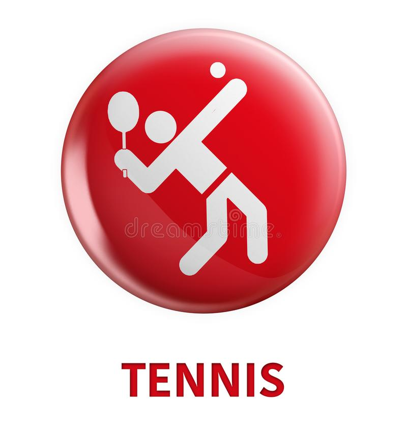 Sports branches and three dimensional logos. An activity involving physical exertion and skill in which an individual or team competes against another or others royalty free illustration