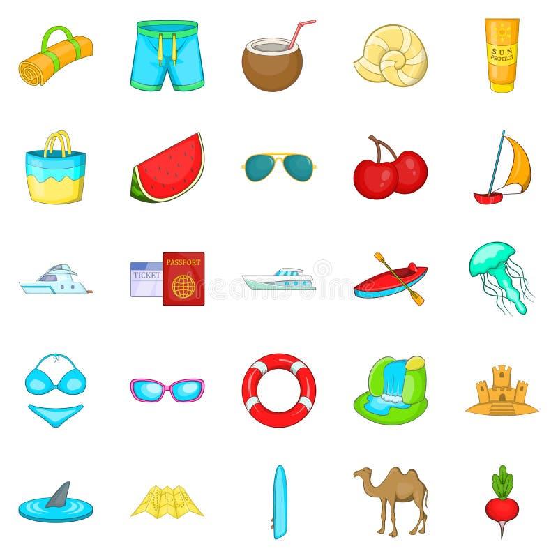 Activity level icons set, cartoon style. Activity level icons set. Cartoon set of 25 activity level vector icons for web isolated on white background stock illustration