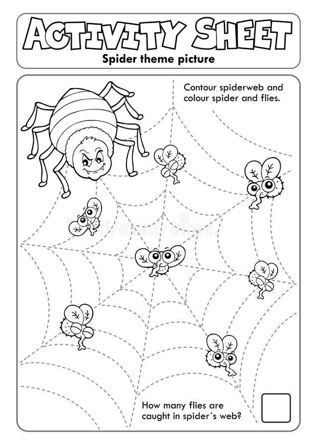 Free Activity Sheet Spider Theme 1 Royalty Free Stock Photo - 178533715