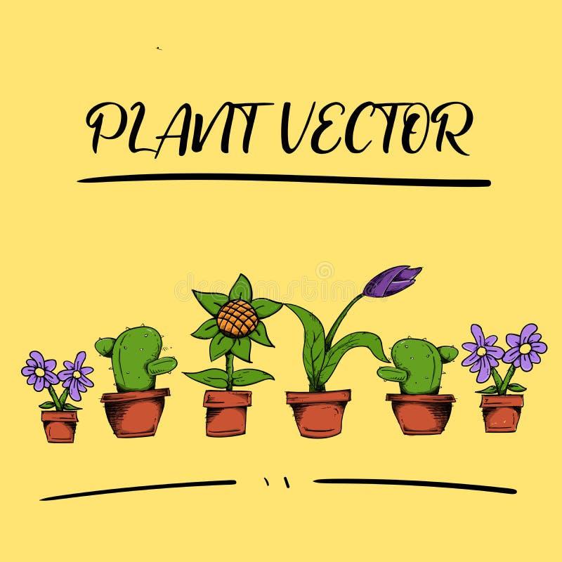 Activo HD lleno del vector de la flor de la planta stock de ilustración